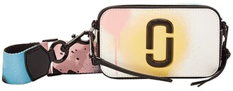 Marc Jacobs Snapshot Crossbody (White Multi) Handbags