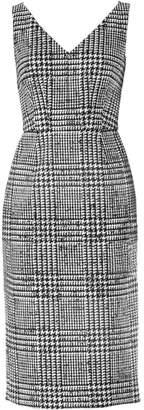 Carolina Herrera Sleeveless Wool & Silk Houndstooth Sheath Dress