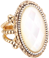 Barse Mother-of-Pearl & Bronze Oval Ring