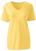 Lands' End Women's Relaxed Supima V-neck T-shirt-Rich Sapphire