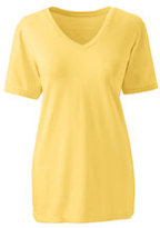Lands' End Women's Tall Relaxed Supima V-neck T-shirt-Rich Sapphire