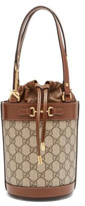Gucci 1955 Horsebit Gg Supreme Bucket Bag - Brown Multi