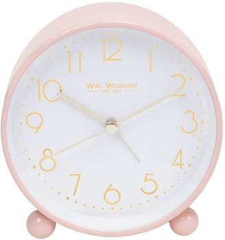 Blush Metal Alarm Clock with Gold Dial