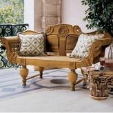 Toscano Halifax Console Wooden Garden Bench Design