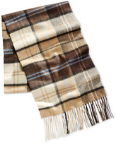 Club Room Men's Khaki Plaid Cashmere Scarf, Only at Macy's