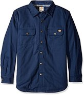 Dickies Men's Relaxed Fit Peached Twill Shirt Jacket