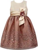 Sorbet Metallic-Embroidered Dress, Size 7-12
