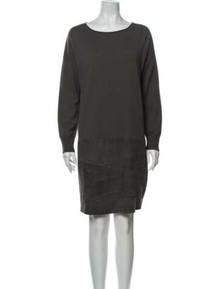 Fabiana Filippi Scoop Neck Mini Dress Grey