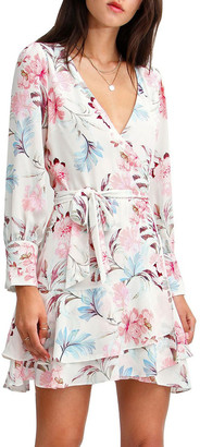 Belle & Bloom A Night With You Mini Wrap Dress