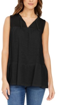Style&Co. Style & Co Cotton Sleeveless Peasant Top, Created for Macy's