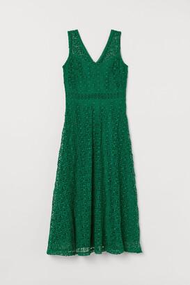 H&M Lace V-neck Dress