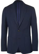 Paul Smith Blue Slim-Fit Unstructured Merino Wool Blazer
