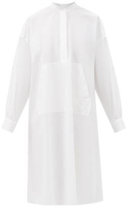 MM6 MAISON MARGIELA Pleated-back Panel Cotton-poplin Shirt Dress - White