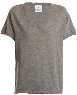 Barrie Sweet Eighteen Distressed Cashmere T Shirt - Womens - Grey