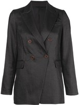 Brunello Cucinelli Fitted Double Breasted Blazer