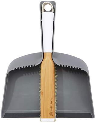 Full Circle Interlocking Dustpan & Brush - Grey/Bamboo