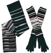 M Missoni Striped Wool Scarf & Gloves Set