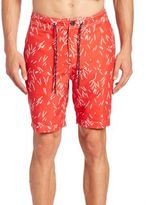 Surfside Supply Co. Lined Sticks Printed Swim Trunks