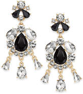 Charter Club Gold-Tone Multi-Stone Chandelier Earrings, Only at Macy's