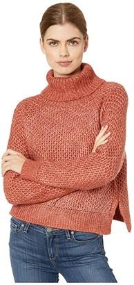 BB Dakota x Steve Madden Big Easy Waffle Stitch Turtleneck (Brick House) Women's Sweater