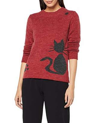 Joe Browns Womens Animal Print Knitted Jumper Red