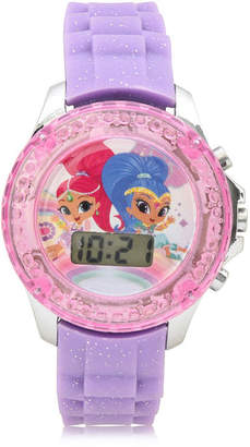 SHIMMER AND SHINE Shimmer And Shine Girls Digital Purple Strap Watch-Sns4086jc