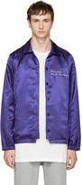Pyer Moss Blue attorney Windbreaker Bomber Jacket
