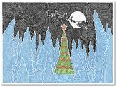 "Trademark Fine Art 18 in. x 24 in. ""White Christmas"" by Viz Art Ink Printed Canvas Wall Art"
