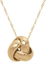 FINE JEWELRY Infinite Gold 14K Yellow Gold Knot Pendant Necklace