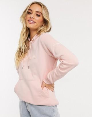 Columbia Logo hoodie in peach