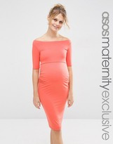 Asos Bardot Dress With Half Sleeve