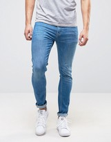 Pepe Jeans Pepe Nickel Powerflex Skinny Jeans Stone Wash