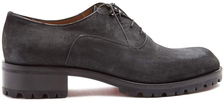 Christian Louboutin Sopeter tread-sole suede derby shoes