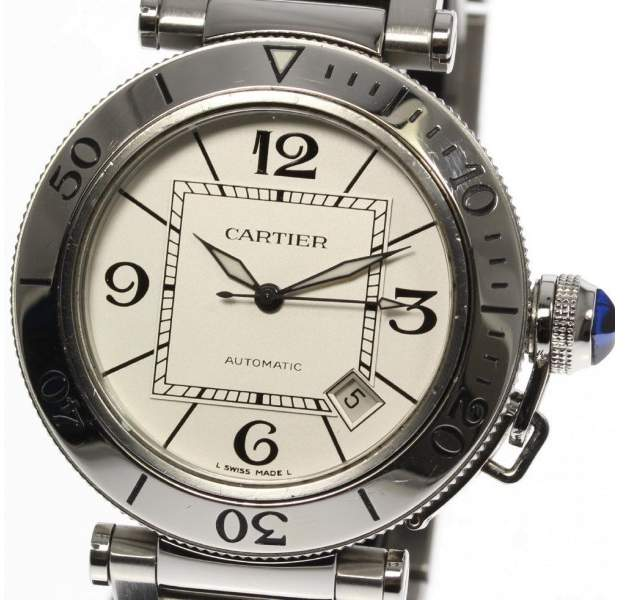 Cartier Pasha Sea-Timer W31080M7 Stainless Steel Automatic 40mm Men's Watch