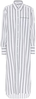 Brunello Cucinelli Exclusive to Mytheresa Striped stretch-cotton shirt dress