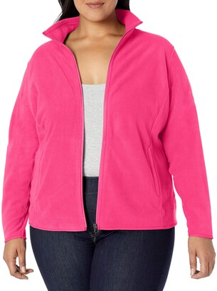 Amazon Essentials Women's Plus Size Full-Zip Polar Fleece Jacket