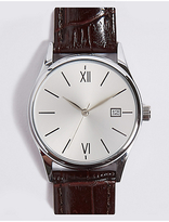 M&S Collection Classic Roman Date Watch