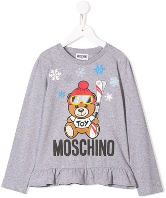 MOSCHINO BAMBINO Ruched Winter Bear Top