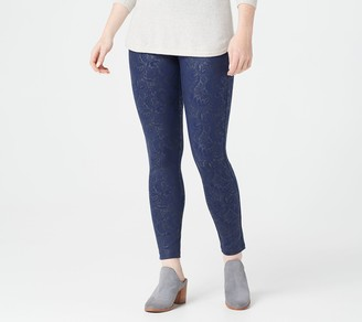 Women With Control Petite Embossed Ponte Royale Leggings