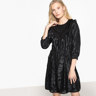 La Redoute Collections Ruffled Jacquard Party Dress