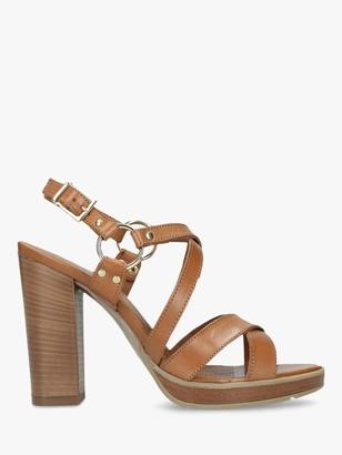 Carvela Karmen Block Heel Strappy Sandals, Natural Leather
