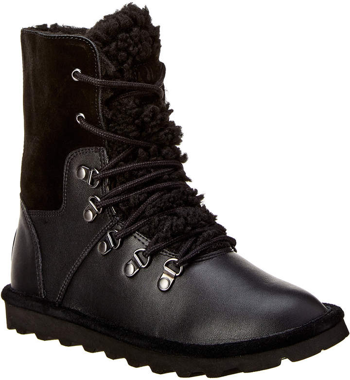 BearPaw Devin Never Wet Fold-Down Leather Boot