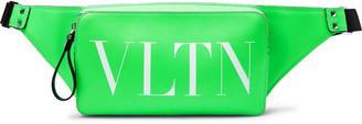 Valentino Logo-Print Leather Belt Bag