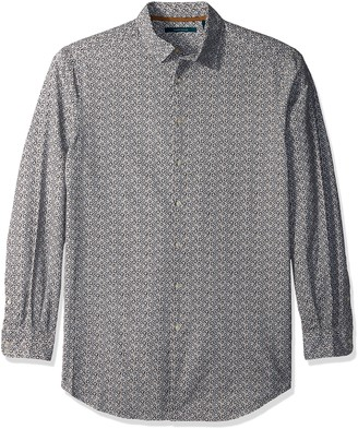 Perry Ellis Men's Tall Big & Tall Graphed Floral Oxford Shirt
