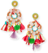 Ranjana Khan Multicolor Beaded Charm Clip-On Earrings