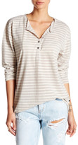 One Teaspoon Cash Striped Henley Tee