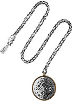 Pamela Love Diana silver, bronze and diamond necklace
