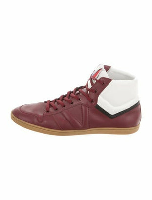 Louis Vuitton Heros Leather High-Top Sneakers white