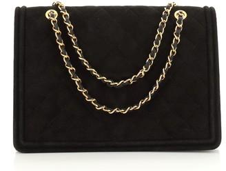 Chanel Vintage Diamond CC Flap Bag Quilted Suede Medium
