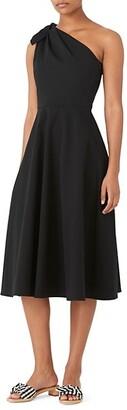 Stretch Twill One-Shoulder Dress